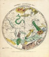 Circumpolar Map Southern, Atlas Designed to Illustrate the Geography of the Heavens 1835